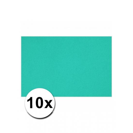 10 oceaan blauwe kartonnen vellen A4 (bron: Feestwinkel Fun en Feest)