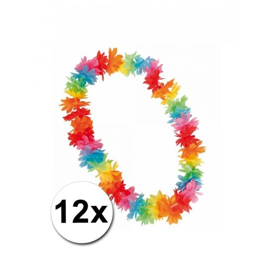 12 Hawaii kransen in felle kleurtjes