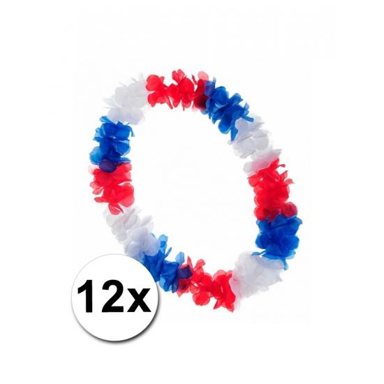 12 Hawaii kransen rood wit blauw