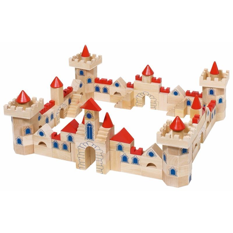 145 delige houten bouw blokken kasteel