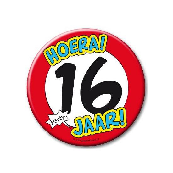 16e verjaardag button XXL