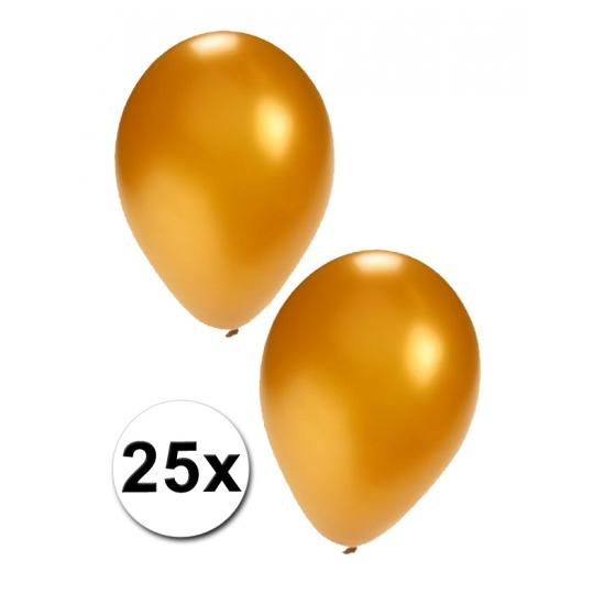 25 stuks gouden ballonnen (bron: Feestwinkel Fun en Feest)