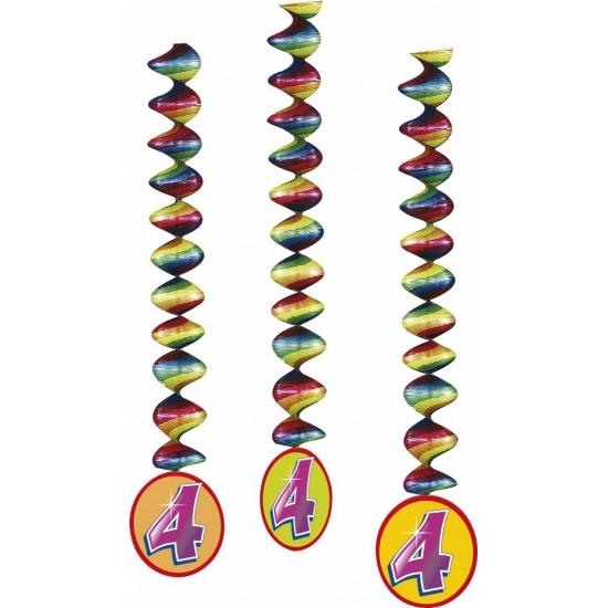 4 jaar versiering rotorspiralen 3x (bron: Feestwinkel Fun en Feest)