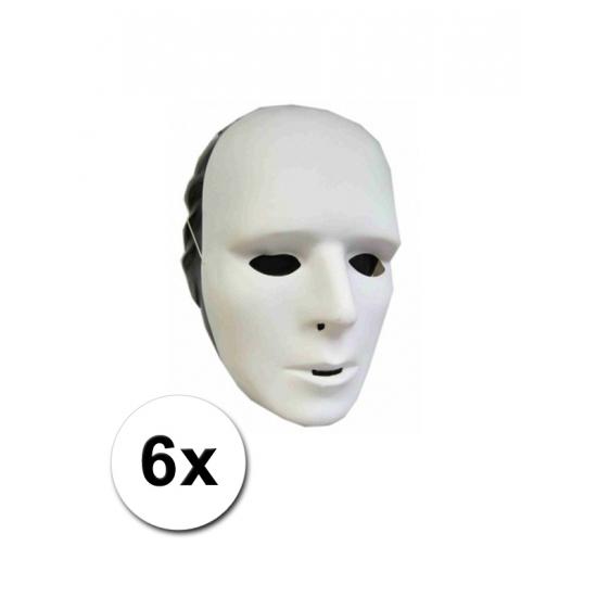 6 grimeer maskers (bron: Feestwinkel Fun en Feest)