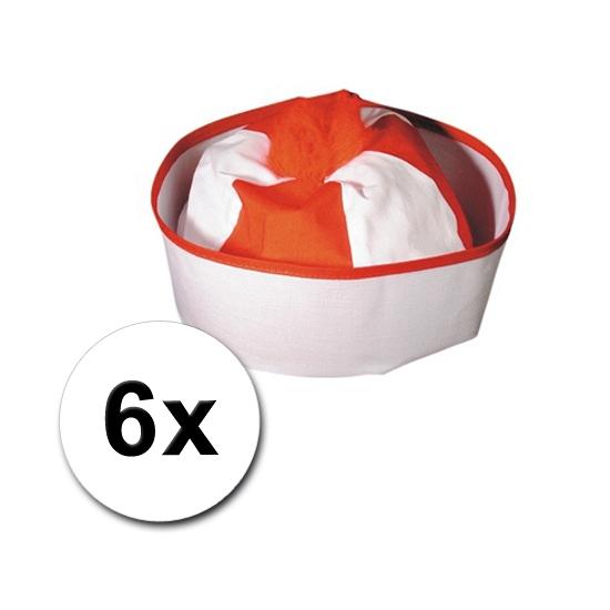 6 Matrozen hoedjes gekleurd (bron: Feestwinkel Fun en Feest)