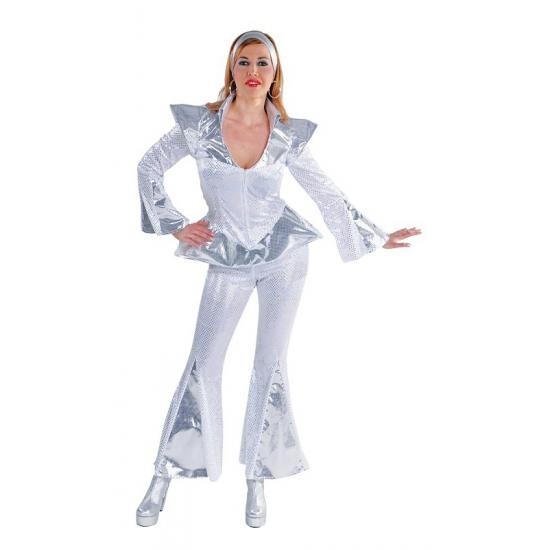 Abba Dancing queen kostuum dames (bron: Feestwinkel Fun en Feest)