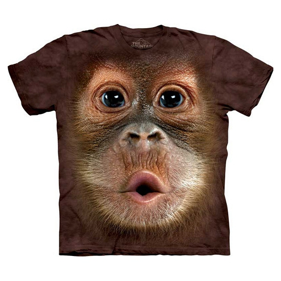 All-over print kids t-shirt Orang Oetang (bron: Feestwinkel Fun en Feest)
