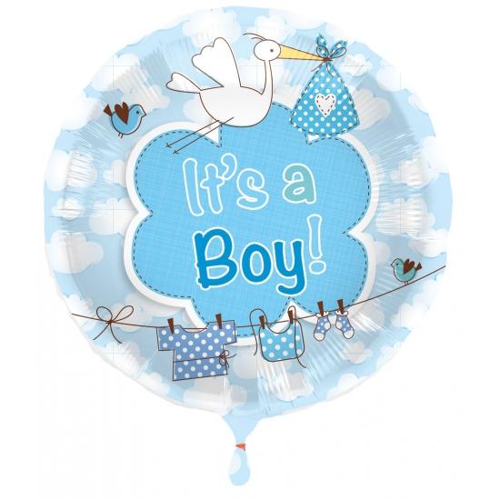 Ballon jongen geboren Its a Boy (bron: Feestwinkel Fun en Feest)