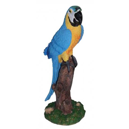Blauwe decoratie papegaai 32 cm (bron: Feestwinkel Fun en Feest)