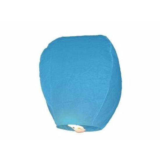 Blauwe geluksballon