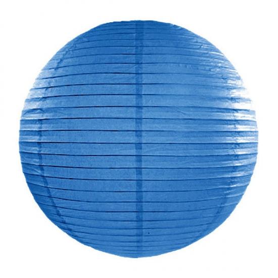 Blauwe lampion rond 35 cm