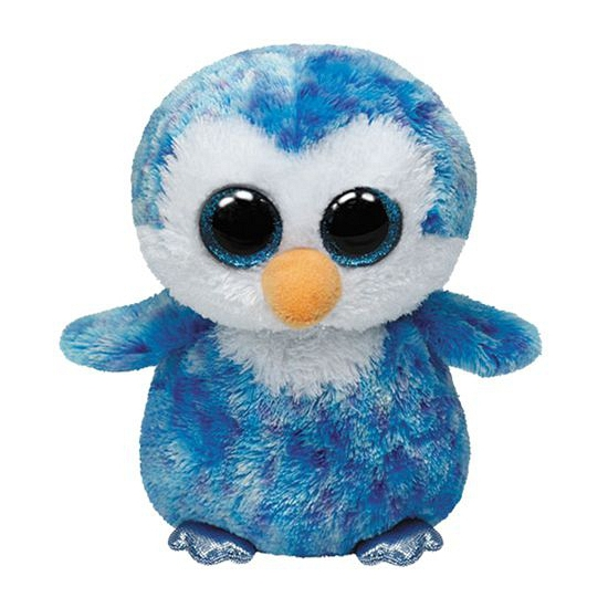 Blauwe Ty Beanie pinguin knuffels 15 cm (bron: Feestwinkel Fun en Feest)