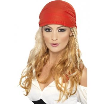 Blonde piraten pruik voor dames (bron: Feestwinkel Fun en Feest)