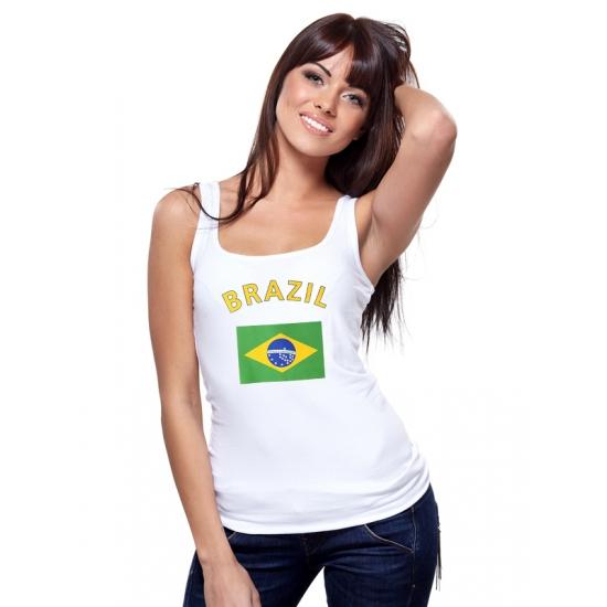Brasiliaanse vlag tanktop voor dames (bron: Feestwinkel Fun en Feest)