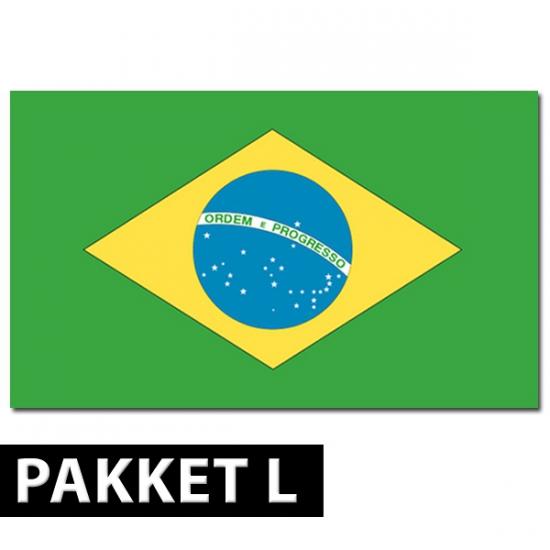 Brazilie versiering pakket groot (bron: Feestwinkel Fun en Feest)