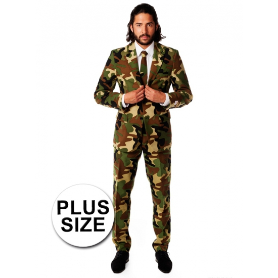 Camouflage pak grote maat (bron: Feestwinkel Fun en Feest)