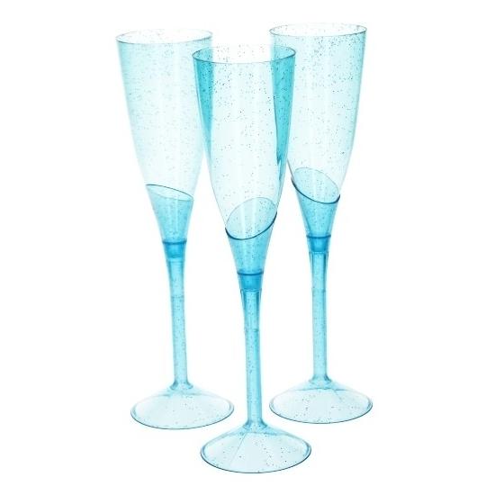 Champagne flutes blauw 5 stuks