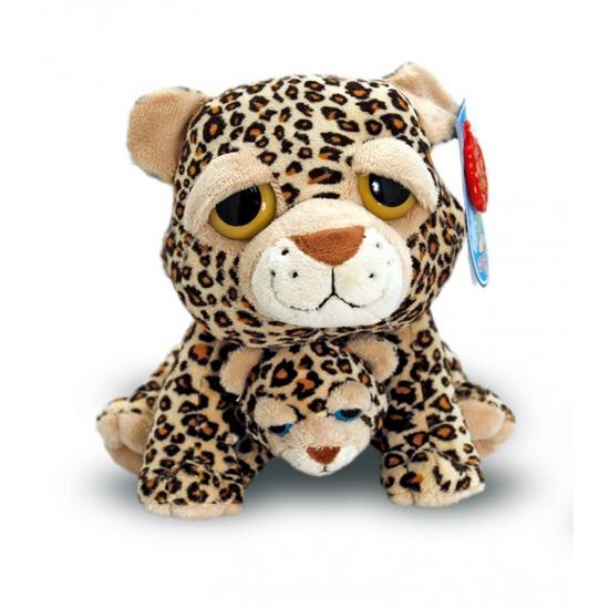 Cheetah met baby knuffel 25 cm (bron: Feestwinkel Fun en Feest)
