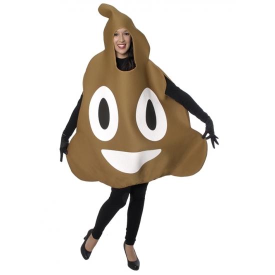 Chocolade ijs emoticon kostuum voor volwassenen