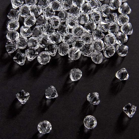 Decoratie diamantjes transparant 9 mm (bron: Feestwinkel Fun en Feest)