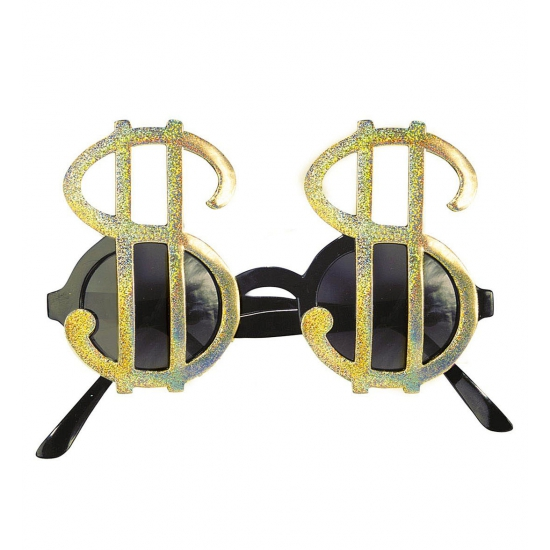 Dollar brillen goud (bron: Feestwinkel Fun en Feest)