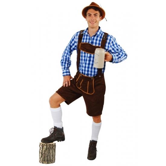 Donkerbruine Tiroler broek korte pijpen