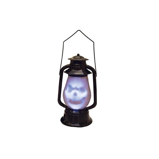 Doodshoofd lantaarn met licht en geluid (bron: Feestwinkel Fun en Feest)