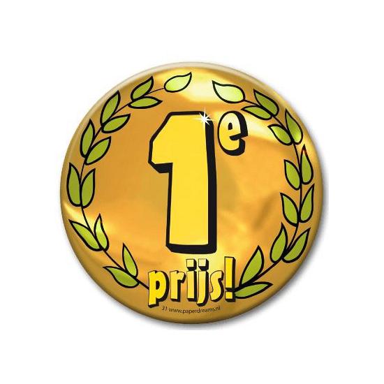 Eerste prijs button XXL (bron: Feestwinkel Fun en Feest)