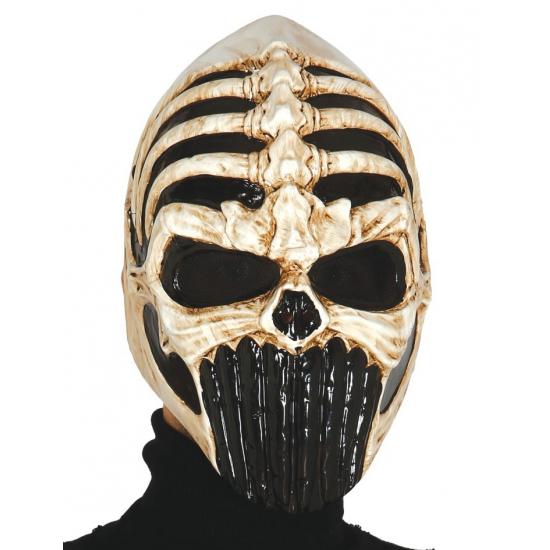 Eng skeletten gezicht masker