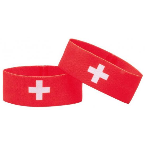 Fan armband Zwitserland (bron: Feestwinkel Fun en Feest)