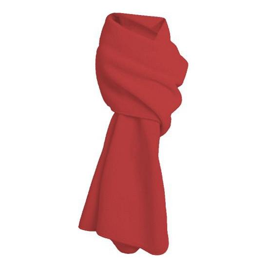Fleece winter sjaal rood (bron: Feestwinkel Fun en Feest)