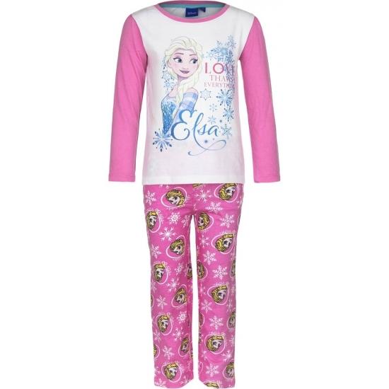 Frozen pyjama in het roze (bron: Feestwinkel Fun en Feest)