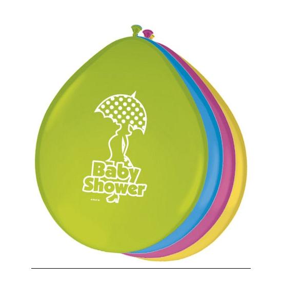Gekleurde babyshower ballonnen (bron: Feestwinkel Fun en Feest)