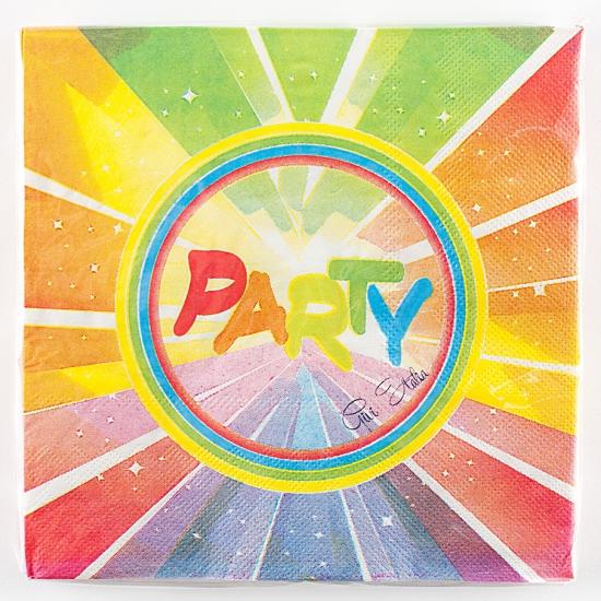 Gekleurde feest servetten 33 x 33 (bron: Feestwinkel Fun en Feest)