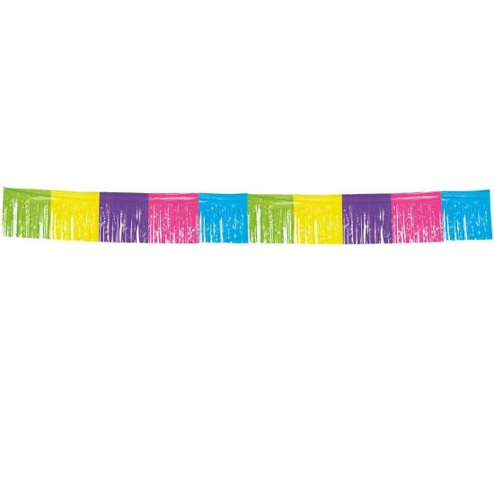 Gekleurde franje slinger 10 meter (bron: Feestwinkel Fun en Feest)