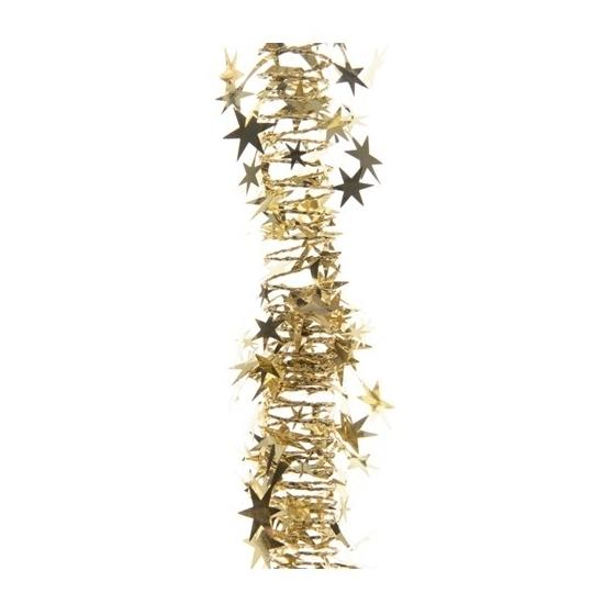 Gouden kerstboom slinger met sterren