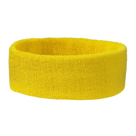 Goudgele hoofd zweetband (bron: Feestwinkel Fun en Feest)
