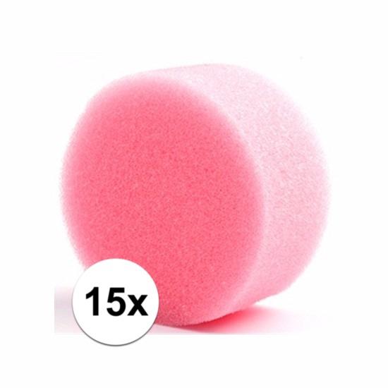Grimas make up sponsjes rond 15 st. (bron: Feestwinkel Fun en Feest)