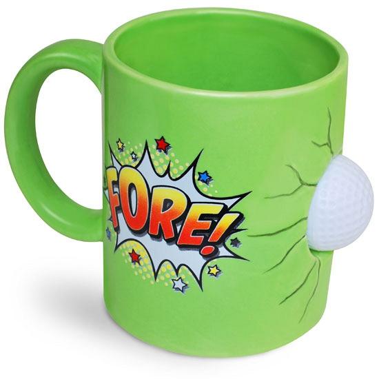 Groene mok golfspeler 600 ml (bron: Feestwinkel Fun en Feest)
