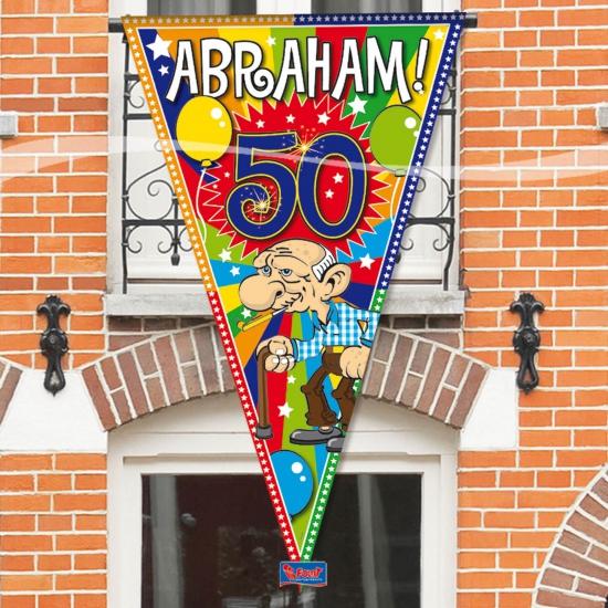 Grote Abraham 50 jaar vlag (bron: Feestwinkel Fun en Feest)
