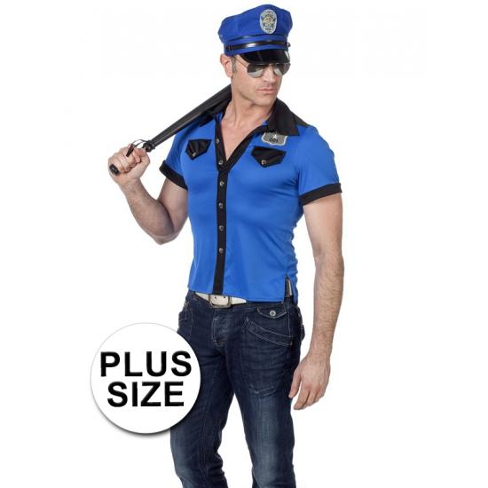 Grote maat politie overhemd heren (bron: Feestwinkel Fun en Feest)