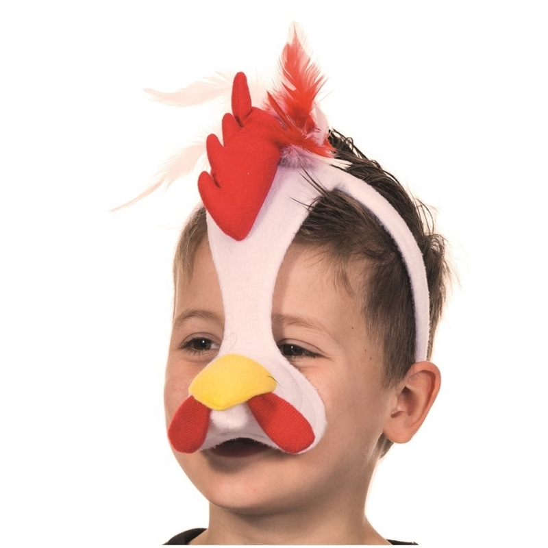 Hanen masker met geluid (bron: Feestwinkel Fun en Feest)