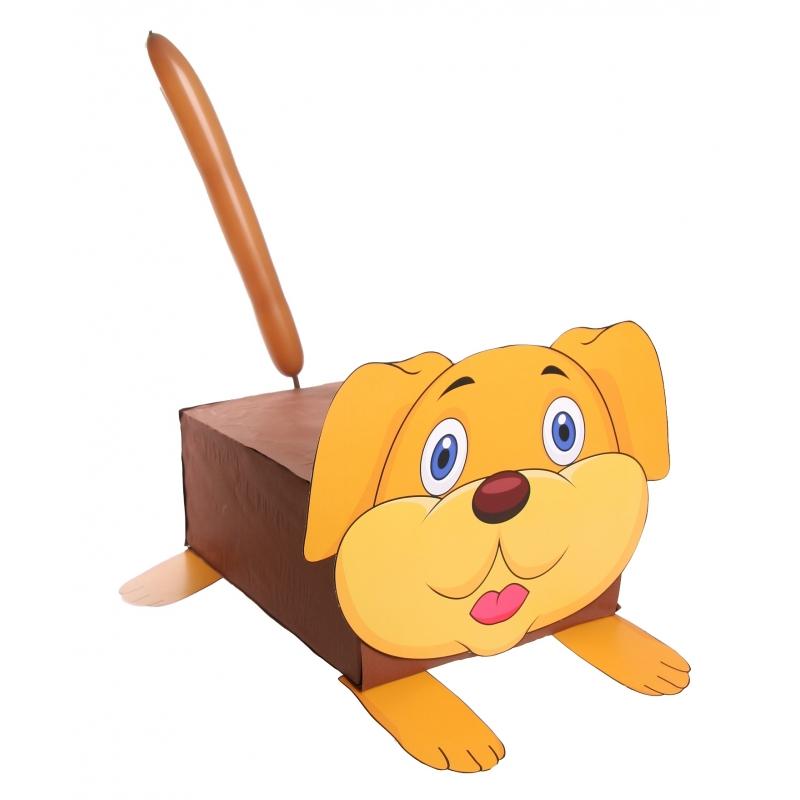 Hond suprise knutselen DIY pakket (bron: Feestwinkel Fun en Feest)