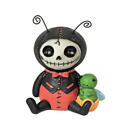 Horror decoratie beeldje Lieveheersbeest (bron: Feestwinkel Fun en Feest)