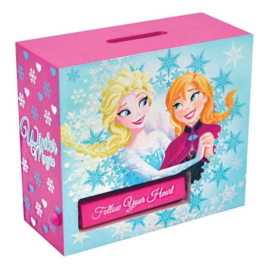 Houten Frozen spaarpot (bron: Feestwinkel Fun en Feest)
