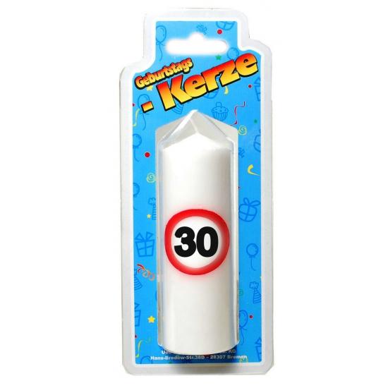 Kaarsje 30 jaar (bron: Feestwinkel Fun en Feest)