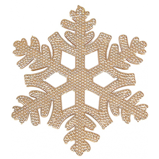 Kerstboom hanger sneeuwvlok koper (bron: Feestwinkel Fun en Feest)