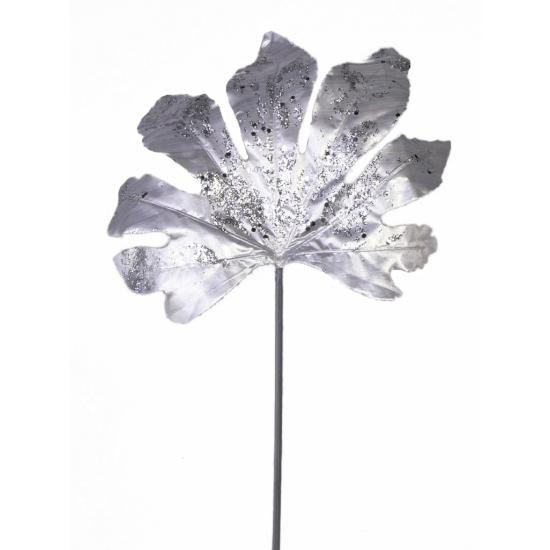 Kerstdecoratie Zilveren Aralia Blad 55 Cm Fun en feest kopen