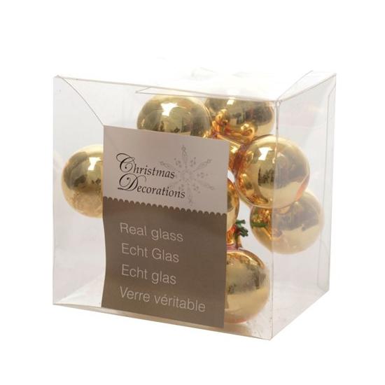 Kerststukje gouden balletjes 10 stuks (bron: Feestwinkel Fun en Feest)