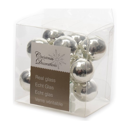 Kerststukje zilveren balletjes 10 stuks (bron: Feestwinkel Fun en Feest)
